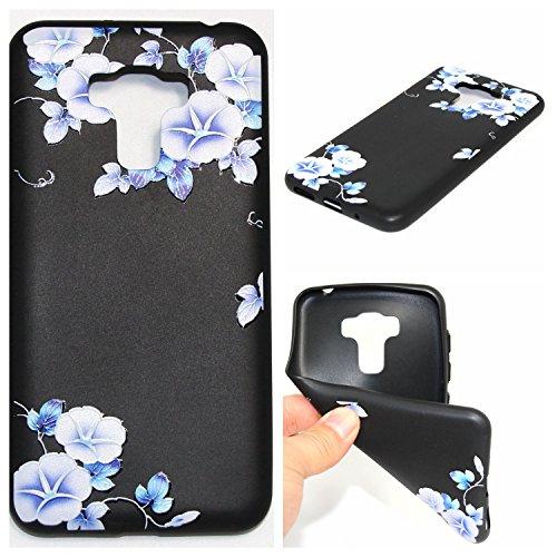 Qiaogle Telefon Case - Weiche TPU Case Silikon Schutzhülle Cover für Asus ZenFone 3 Max ZC553KL (5.5 Zoll) - YX44 / Trichterwinde