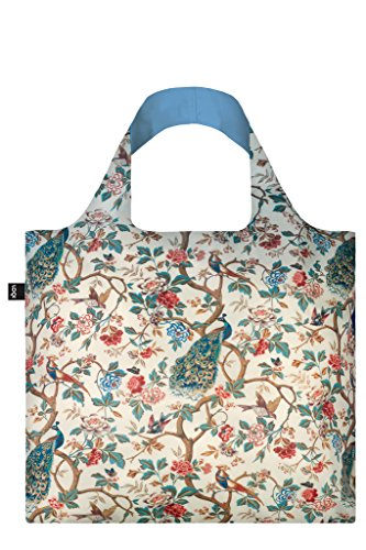 LOQI Museum Wall Hanging Peacock With Peonies Bag Borsa da spiaggia, 50 cm, 20 liters, Multicolore (Multicolour)