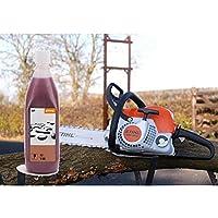 Stihl - aceite de 2tiempos. botella de 1litros. 07813198410