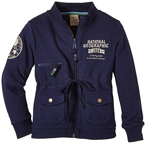 National Geographic Mädchen Sweatjacke Girl RGSW-045 Pockets Peacoat