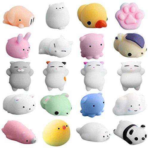 s, fat. chot 20PCS Animal Squishies Mochi Squeeze Spielzeug Mini-Siegel Octopus Kaninchen Chick Stress Release Geschenk für Kinder Erwachsene (Halloween Essen Sie Es Oder Tragen Sie Es)