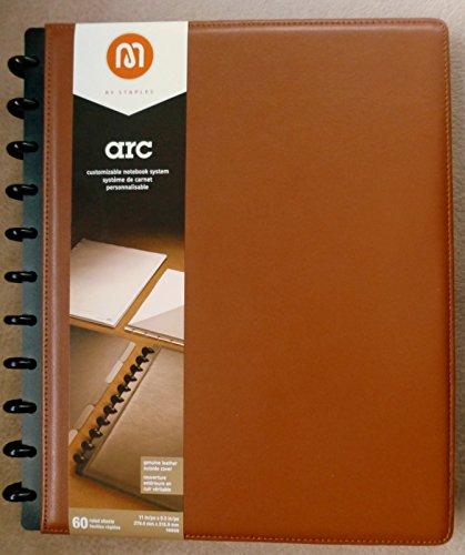 M By Staples TM Arc Anpassbare Leder Notebook System, hellbraun/braun, 27,9cm X 8-1/5,1cm (M Staples Notebook)