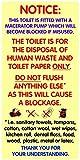 Paire de Waterpoof Autocollant Signes d'avertissement pour toilettes équipées....