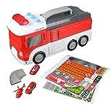 B Blesiya Giocattolo Elettronico per Camion dei Pompieri Trasformazione in Parcheggio con Race Track Birthday Gift for Children