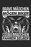 Coole Mädchen fahren Motorrad: Notizbuch für Motorradfahrerin Biker-Girl Motorrad-Fahren