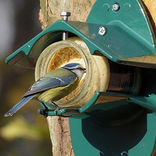Erdnussbutter für Gartenvögel - Set (4 x 330g) + Erdnussbutter-Glashalter aus Metall