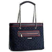 Love Moschino - Bolso al hombro para mujer azul marino, rojo NAVY / ROSSO
