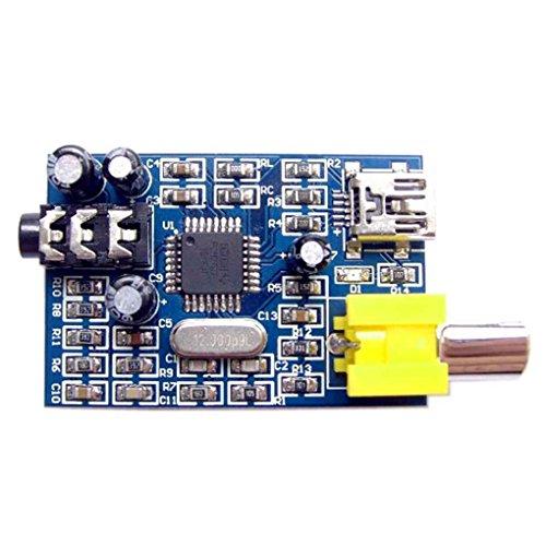 Morza 42.8mm x 28.5mm PCM2707 USB DAC-Soundmodul mit S/PDIF-Schnittstelle Doppel Kanal Stereo Kopfhörerbuchse