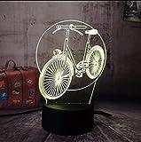 Fushoulu Led 3D Rgb Nachtlicht Fahrrad Fahrrad Multicolor 7 Farbwechsel Remote Tischlampe Usb Für Kind Weihnachtsgeschenk