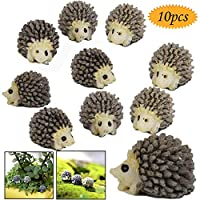 bluesees Miniature Hedgehog, 10pcs Miniature Landscape Garden Decor Hedgehog Ornaments ,Household Fashion Furniture And Decor Miniature Ornament Hedgehog Mushroom Set Decor Fairy Garden