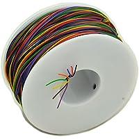 ELECTRONICS-SALON 8colores 30AWG aislamiento Prueba de envolver cable, sólido de cobre estañado de alambre.