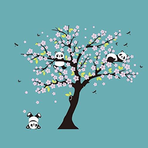 GCHHJY Enorme weiße Kirschblüten-Baum-Wand-Aufkleber-Kinderzimmer-dekorative Abziehbilder, die Panda Wall Decal for Kids Room Sofa Background Spielen (Kirschblüten-baum-wand-aufkleber)