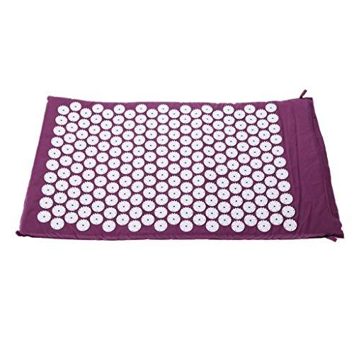 Jkpa - tappetino da massaggio tappetino per agopressione - tappetino massaggiante per digitopressione - tappetino per yoga spike terapia intensa per alleviare il dolore alla schiena e al collo, rilass