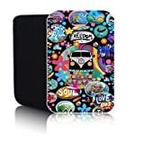 BIZEBEETAB 'RETRO CAMPERVAN' Black 7'' Case for ALCATEL ONE