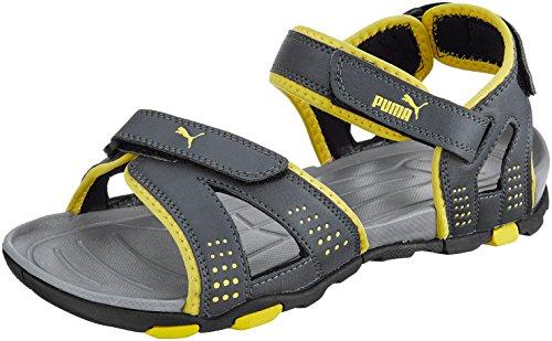 58abc4770d41 Puma 36077904 Men Grey And Yellow Printed Kongo Iii Dp Flip Flops ...