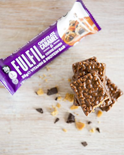 Fulfil Nutritional Bar, Chocolate and Caramel Cookie Dough, 55 g, Pack of 12