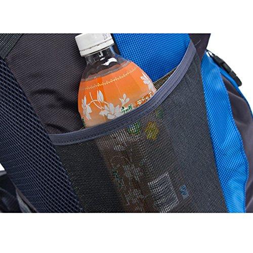 Hohe Kapazität Draussen Multifunktion Sport Wandern Klettern Reise Schultern Camping Wasserdicht Rucksack Lila
