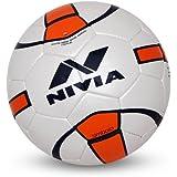 Nivia Simbolo Football, Size 5 (White/Orange)