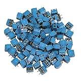 100 x Printklemmen Anschlussklemmen 2 polig Leiterplattenklemme Klemmenblock