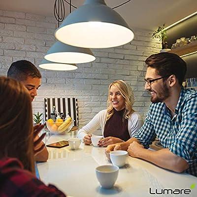 Lumaro LED Kerze 5er | E14 5W | Ersetzt 40w Lampe | 410 Lumen Glühbirne | 2700 Kelvin | C35 Leuchtmittel | warmweiss