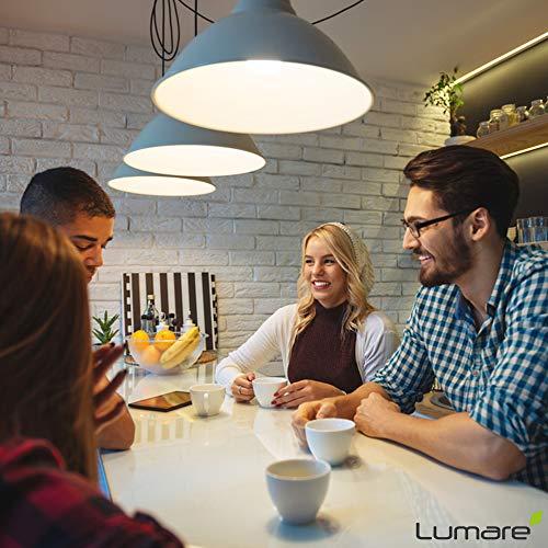 Lumare LED Kerze 5er | E14 5W | Ersetzt 40W Watt Lampe | 410 Lumen Glühbirne | 2700 Kelvin | C35 Leuchtmittel | warmweiss