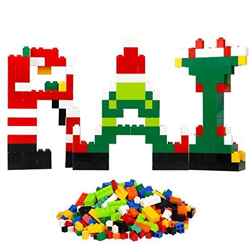 Mini Bunte Bausteine Set Plastik Spielzeug Figuren Baustein Bausatz Spiel für Kinder Mädchen ab 6 Jahren (1000 Stücke)