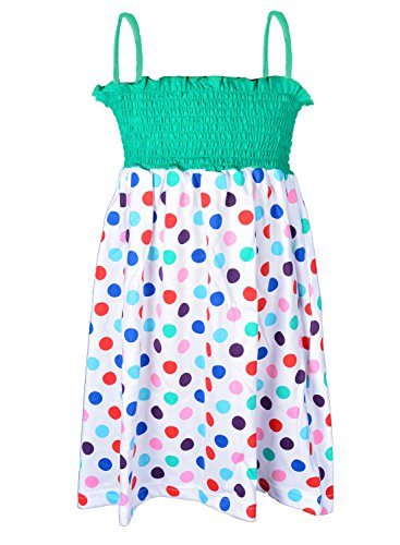 Lil Orchids Polka Dots Printed Girls Casual Dress  available at amazon for Rs.329