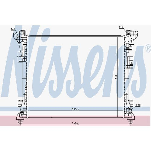 Preisvergleich Produktbild Nissens 61034Heizkörper Kühlung des Motors