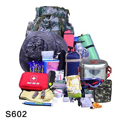 Komplette Erdbeben-Tasche, Katastrophenhilfe-Zubehör, Erste-Hilfe-Ausrüstung Katastrophenhilfe-Unterstützung S602 Erdbeben-Notfall-Kits, Katastrophenhilfe-Zubehör