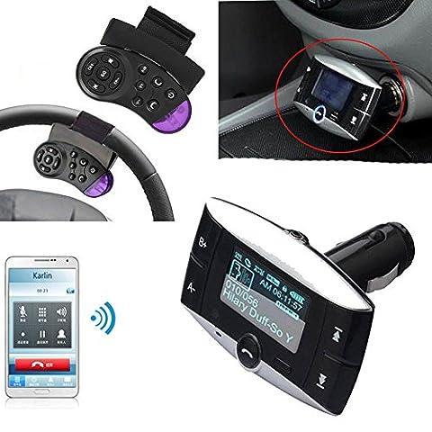 3,8cm LCD Auto Bluetooth Kabellos MP3Player FM Transmitter Modulator SD MMC USB Lenkrad Freisprecheinrichtung Fernbedienung versandkostenfrei New Bluetooth FM Transmitter Modulator Auto CC KIT MP3Player Fernbedienung Freisprecheinrichtung