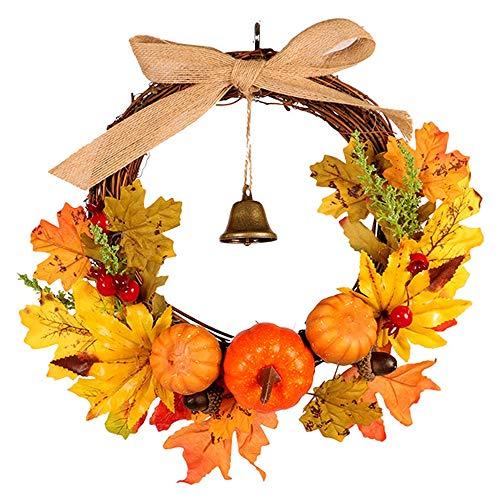 HBFYQ Dekorative Girlande Creative Bell Maple Tree Vine Kürbis Ornament Anhänger Thanksgiving Weihnachten Halloween Geeignet Für Jeden Urlaub Größe 30 * 30cm (Halloween Tree Ornaments Mini)