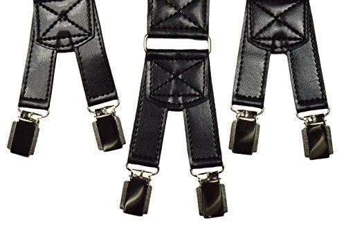 Bretelles de Haute Qualité avec 6 Clips, Extra Fort - 4cm Noir