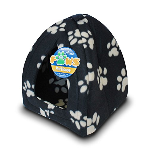 black-dog-cat-puppy-kitten-beds-fleece-washable-igloo-pet-bed-basket