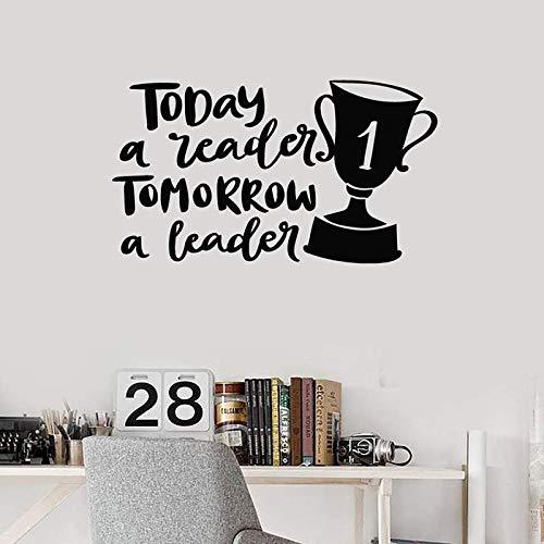 zhuziji Vinile Adesivo Leader Preventivo Lettura Leadership Scritte Inspirational Art Stickers Murale Arte Rimovibile Aula dic 57x99cm