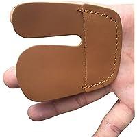 Tiro con arco dedo Tab piel de vaca protector de dedo Protector para mano derecha BZ03