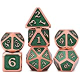 FD2LB1NVL Metallo Polyhedral D & D Set di 7 Antico Rame Metallo Rpg Role Playing Game Dice 7PCS Set (6)