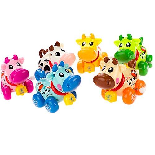 Satz von 2 Schöne Tiere Wind-up-Spielzeug für Kinder, Kalb (Farbe Random)