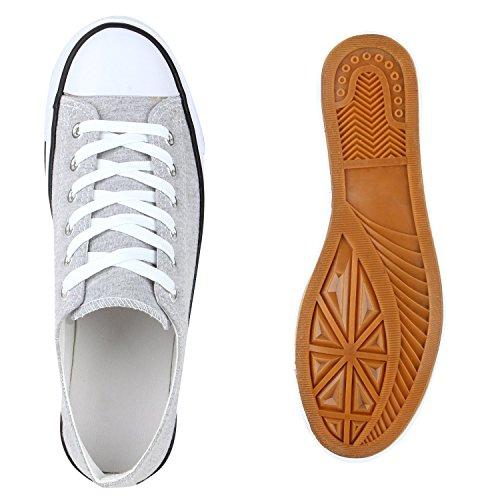 Japado Comode Sneakers Unisex Low-cut Modello Basic Scarpe Per Il Tempo Libero Di Tanti Colori Gr 36-45 Grigio