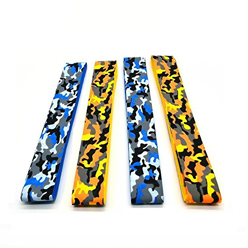AF-WAN Anti Slip Camo Tennis Overgrip,Super Absorbent Badminton Overgrip for Squash,Rackets,Bat Fishing Rod,Softball and Tee Ball (4 - Größe Kind Spazierstock,