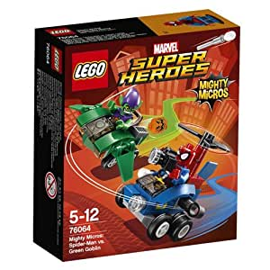 LEGO 76064 - Figurine Super Heroes Mighty Micros Spiderman Vs Goblin