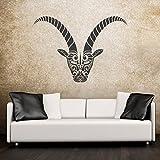 malango® Wandtattoo Sternzeichen Steinbock Wanddekoration Tier Zeichen Tierkreiszeichen Wanddesign Dekoration Tattoo Design ca. 120 x 83 cm grau