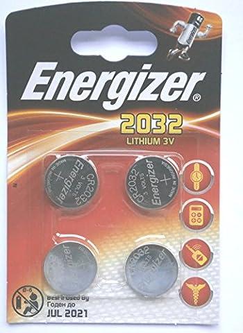 Energizer CR2032Lithium-Batterie–(4Stück)