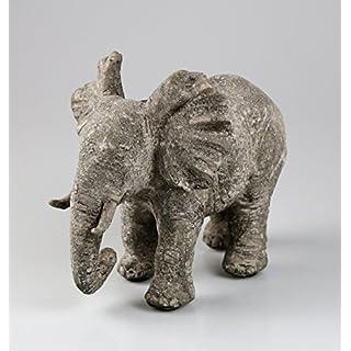 Elefant Figur 24 cm Skulptur Tier Tierfigur Elefantenfigur Afrika Deko