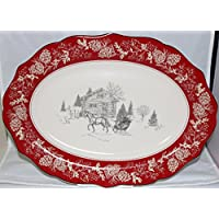 222 Fifth Andover Serving Platter - Approximately 10 X 14 by 222 Fifth Andover