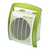 Ventilador silencioso de bajo consumo de energía FH5-100 de Imetec Eco, asa ergonómica, niveles de temperatura 3, termostato de ambiente, verde