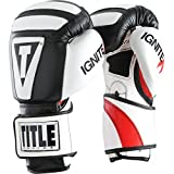 Title Infused Foam Ignite I-Tech Training Gloves-Black/White-12 Oz