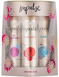 Impulse Body Fragrance Gift Set, Instinctive, 4-Piece