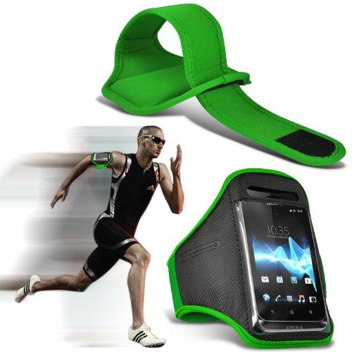 ( Green ) Blackberry Curve 3G 9330 Premium Quality Sports Lauf Jogging Ridding Bike Cycling Gym Arm-Band-Kasten-Beutel-Abdeckung von Fone-Case 9330 Screen Protector