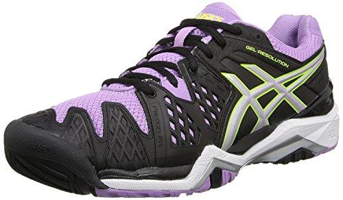 ASICS Gel Resolution 6 Wide Women's Tennis Shoe White/Silver - Wide Version
