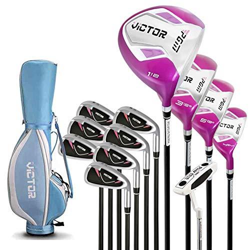 RRDDZZ Damen-Set mit 12 Golfschlägern Rechtshänder - Standbag, Farbe wählen,Blue (Golf Gap Wedge Club)